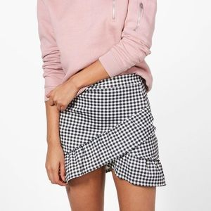 Avalon Drop Hem Gingham Mini Skirt